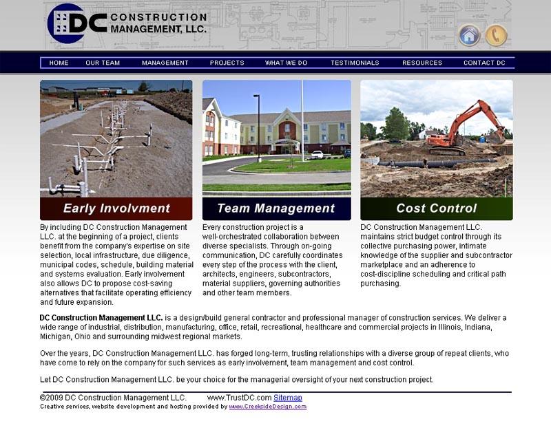 DC Construction Management, LLC website (2010)