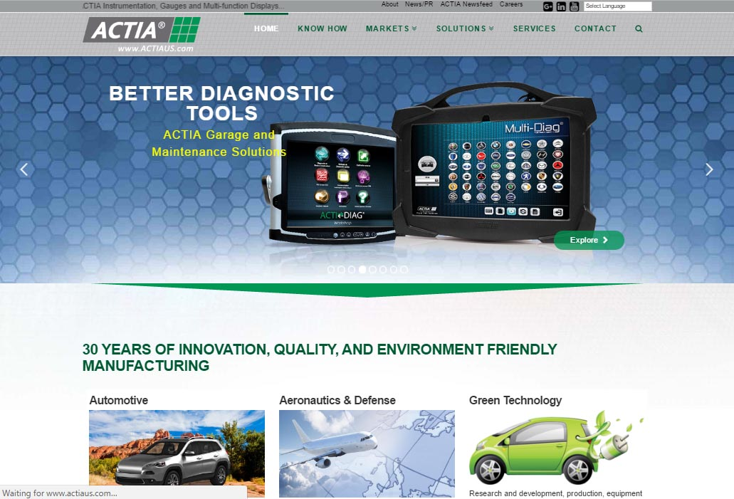 ACTIA Corp. website (2016)
