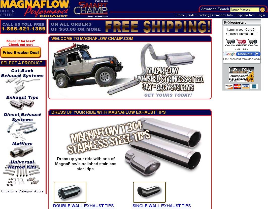 Truck Champ Magnaflow website (2010)