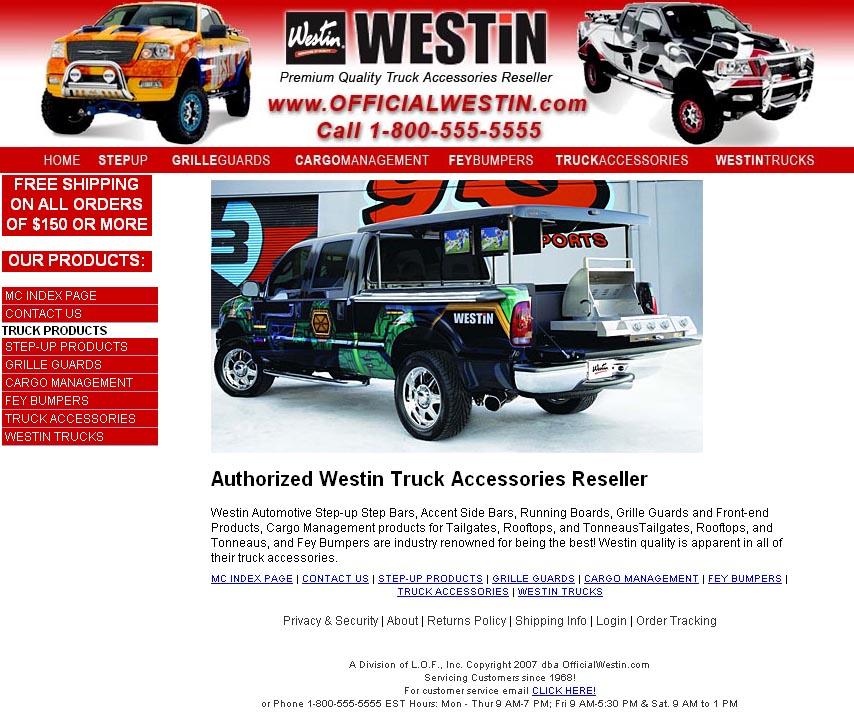 Truck Champ Official Westin website (2010)