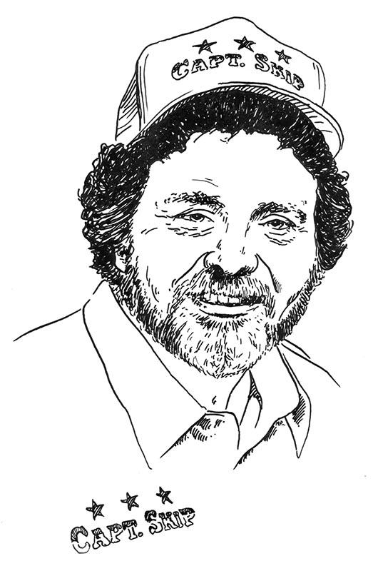 Captain Skip - American Fisherman - Portrait Illustration