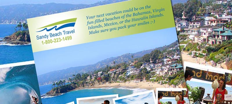 Sandy Beach Travel (2008 Sales Flyer)