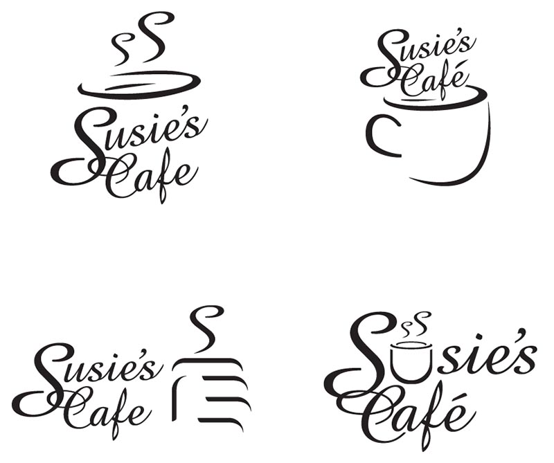 Susie's Cafe - Alternative Logo Ideas (Logo Design)